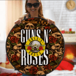 LIMITED EDITION – GUNS N ROSES- ROUND RUG 5241T