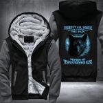 "I KEEP IT ALL INSIDE"" WOLF FLEECE JACKET – LIMITED EDITION"