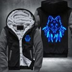 WOLVES GLOWING PREMIUM FLEECE JACKET – LIMITED EDITION