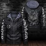 LIMITED EDITION-HOODED LEATHER JACKET FOR LOVERS-6486TR