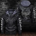 LIMITED EDITION-HOODED LEATHER JACKET FOR LOVERS-6488TR