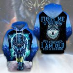 LIMITED EDITION- 3D WOLF HOODIE – 5444A