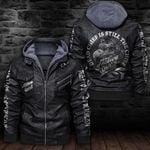 LIMITED EDITION-HOODED LEATHER JACKET FOR LOVERS-6485TR