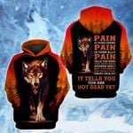 LIMITED EDITION- 3D WOLF HOODIE – 8012A