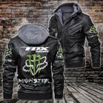 HOODED LEATHER JACKET LIMITED EDITION-7271