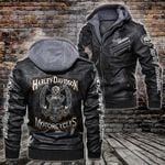 HOODED LEATHER JACKET LIMITED EDITION-90176A