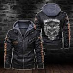 HOODED LEATHER JACKET LIMITED EDITION-5850A