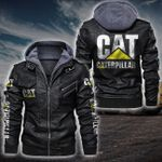 HOODED LEATHER JACKET LIMITED EDITION-7424A