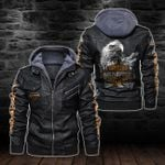 HOODED LEATHER JACKET – LIMITED EDITION-11307A