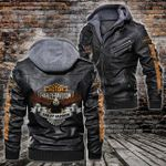HOODED LEATHER JACKET – LIMITED EDITION-90390A