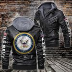 HOODED LEATHER JACKET – LIMITED EDITION-60236TR