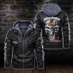 HOODED LEATHER JACKET – LIMITED EDITION-5812-TP