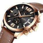 3ATM Chronograph Watch Men Sport Quartz Fashion Leather Clock Mens Watches Top Brand Luxury Waterproof Watch Relogio Masculino