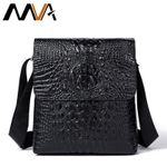 Alligator Pattern Men Messenger Bag Male Men Bags Business Genuine Cow Leather Black Shoulder Bag Small Crossbody Bags