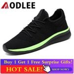 AODLEE Mesh Mens Shoes Casual Lac-up Flyknit Men Sneakers Shoes Light Breathable Men Casual Shoes Tenis Feminino Zapato