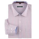 Autumn Dress Shirts for Men's Classic collar Long Sleeve Regular-fit Non Iron Cotton Business Formal Blue/black Plaid Shirt