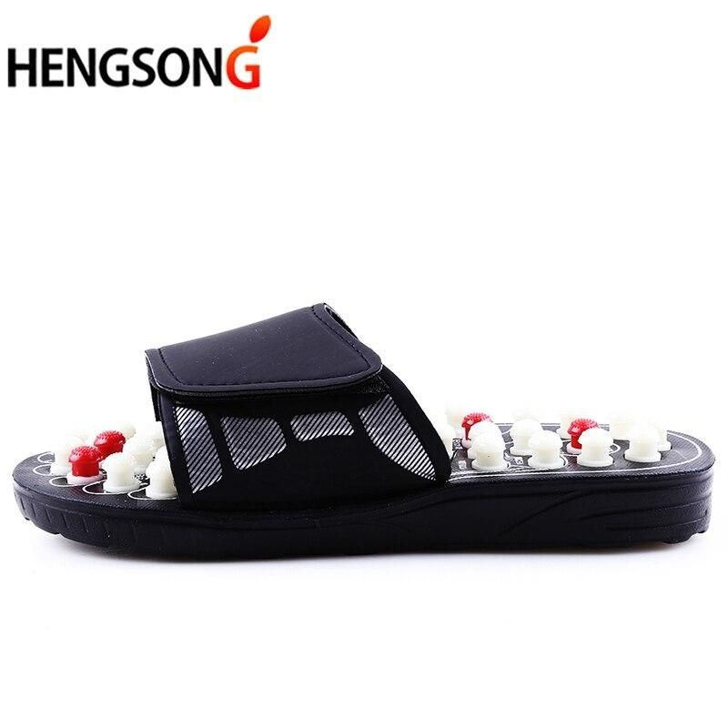 Acupoint Massage Slippers  For Men Sandals Feet Chinese Acupressure Therapy Medical Rotating Foot Massager Shoes Unisex