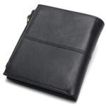 100% Genuine Leather Men Wallets Short Coin Purse Small Vintage Wallet Cowhide Leather Card Holder Pocket Purse Men Wallets