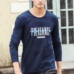 Autumn fall Long Sleeve t Shirt Male Luxury Fashion Mens Clothing blue Tees T-shirt