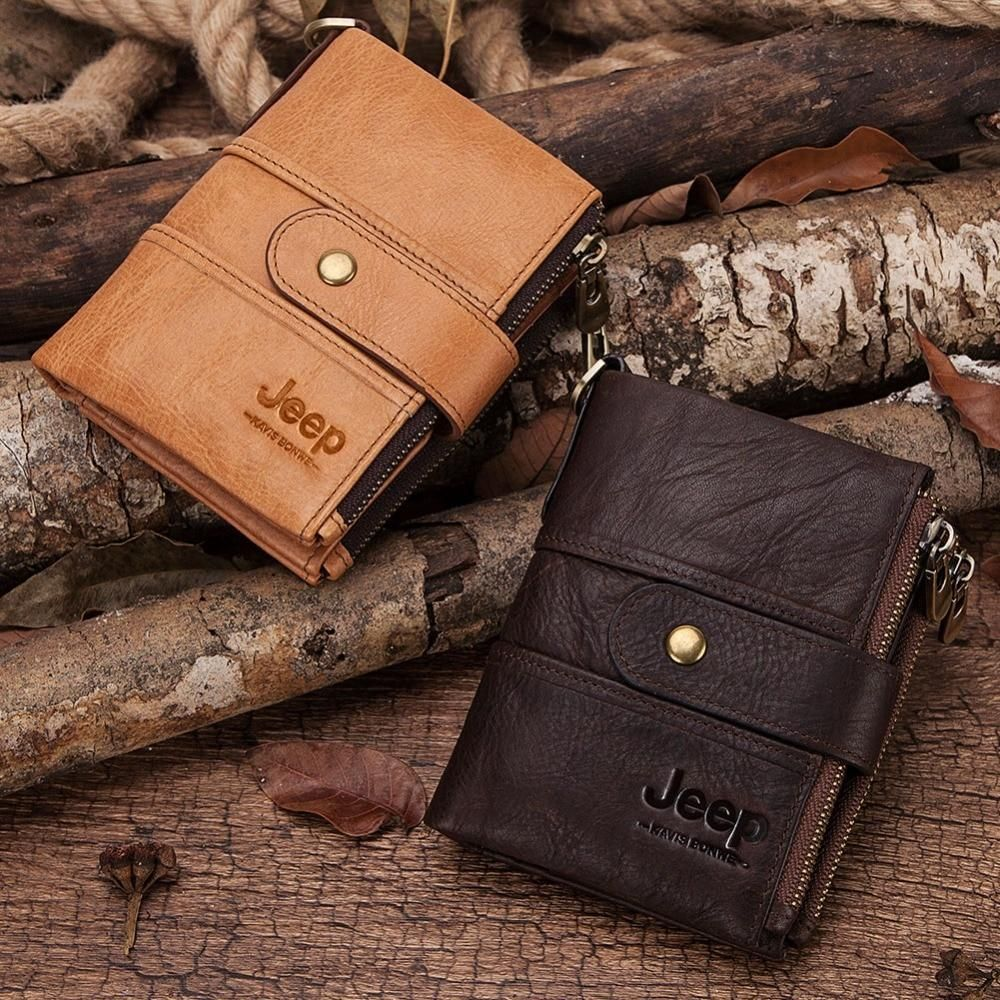 100% Genuine Leather Rfid Wallet Men Crazy Horse Wallets Coin Purse Short Male Money Bag Mini Walet High Quality Boys