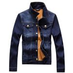 Autumn Fashion Denim Jacket Mens Warm Jeans Coat Winter Slim Fit Casual With Pockets Coats For Man Trench