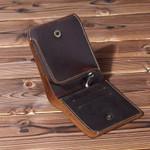 100% Genuine Leather Wallets Bifold Purse Vintage Crazy Horse Leather Clutch Men wallets Retro Coin Pocket men wallets