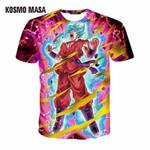 3D Dragon Ball Short Print T-Shirt For Men O-Neck Summer Anime Hip Hop T-Shirts Men's Jersey T Shirt