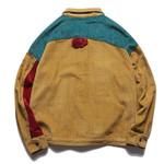 Aolamegs Jacket Men Corduroy Patchwork Men's Jacket Pockets High Street Fashion Casual Outwear Men Coat Autumn Streetwear