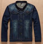 Autumn Spring Denim Jacket Casual Fashion Men's Jeans Jackets Blue Denim Jackets Coat Buttom Pocket