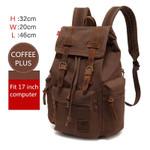 AUGUR New Men's 17 inch laptop backpack computer school backpacks men's vintage canvas large capacity travel backpack school bag
