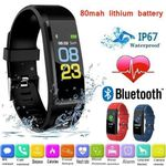 115 PLU Waterproof Sport Smart Watch Men Women Heart Rate Fitness Tracker Smart Wristbands For Android IOS Smart Watches Relogio