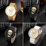 3D Skull Watch for Men & Women Luxury Famous Brand Steampunk Engrave Mesh Steel Leather Quartz Mens Couples Wristwatches Clock