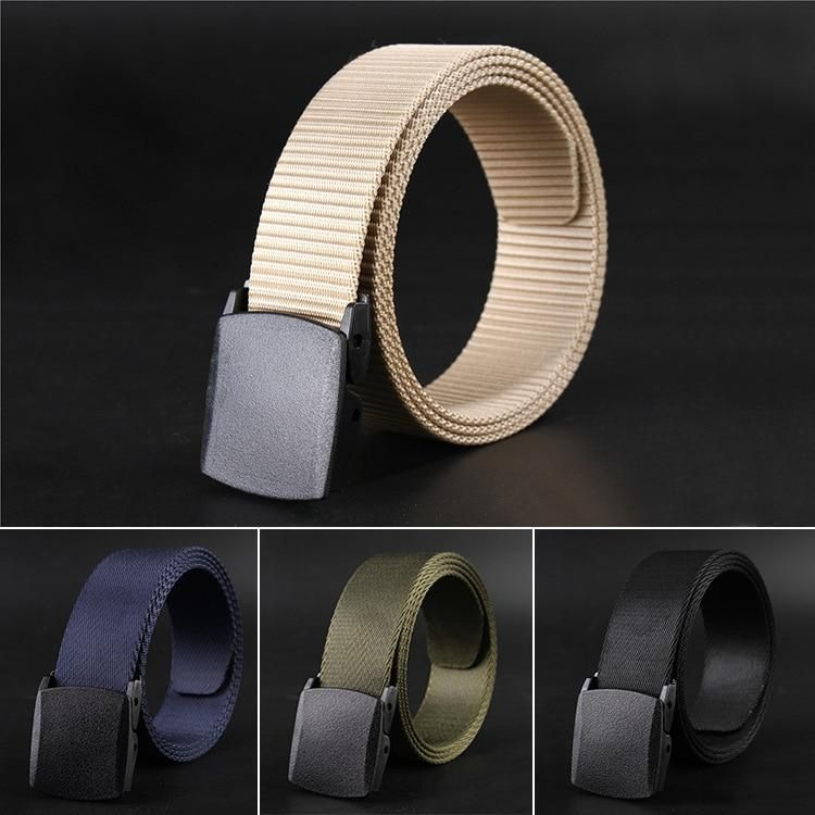 Automatic Buckle Nylon Belt Male Army Tactical Belt Mens Military Waist Canvas Belts Cummerbunds High Quality Strap NEW Belt