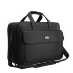 17 Inches large briefcase black extensible business bag men waterproof computer Laptop men bag