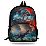 16-inch Popular Animal Printing Backpack For Kids Jurassic World Fallen Kingdom Bags For Girls Boys Children School