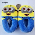 3D minions slippers woman Winter Warm slippers Despicable Minion Stewart Figure Shoes Plush Toy Home Slipper One Size Doll