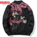 Aelfric Eden Spring High Street Phoenix Embroidery Jacket Coat Plus Size Casual Outwear Hip Hop Bomber Jackets XS-XXXL LQ05