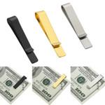 1pc Practical Metal Stainless Steel Simple Money Clip Holder Folder Collar Clip Dollar Cash Clamp Holder Wallet for Men Women