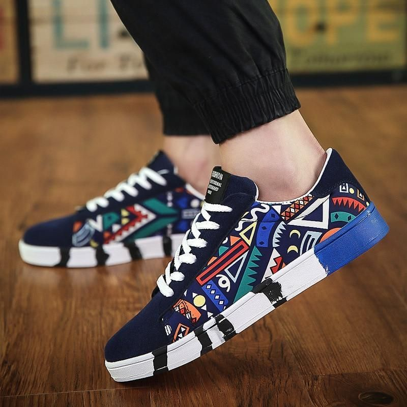 Autumn Hot Men Sneakers Fashion Canvas casual shoes for Men Lace up Flat Shoes Outdoor Male Vulcanized shoes Tennis Shoes