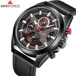 ARMIFORCE Men Watches Luxury Brand Military Sport Watch Men Leather Chronograph Date Quartz Analog Clock Relogio Masculino