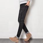 Autumn Jeans Men Fashion Slim Fit Enzyme Wash Denim Trousers Clothing  Jeans Stretch Denim Pants Trousers
