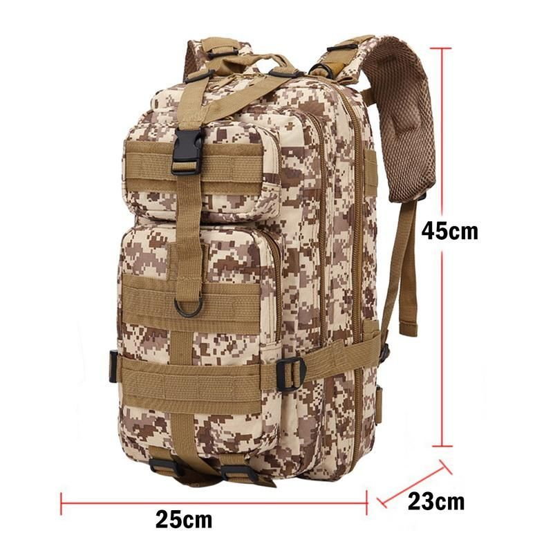 20-35L 600D Outdoor Military Tactical Backpack 30L Molle Bag Army Sport Travel Rucksack Camping Hiking Trekking Camouflage Bag