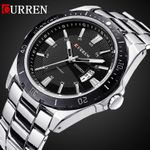 2016 CURREN NEW Fashion Men Sports Watches Quartz Date Clock Man Watch Men's Casual Full Stainless Steel Casual Wrist Watch
