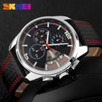 2016 Men's Quartz Watch Men Sports Watches Genuine Leather SKMEI Brand Fashion Relojes Date Relogio Masculino Mens Wristwatches