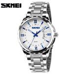 2016 New Fashion Men Stainless Steel Quartz Watches Men's Wristwatches Gold Analog Date Waterproof Male Clock relogio masculino