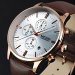 2016 New Luxury Brand Men Fashion Sports Watches Men's Quartz Chronograp 6 Dial Day Clock Man Leather Strap Business Wrist Watch