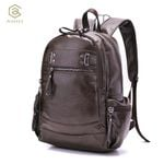 AHRI Backpacks for men Bag PU Black Leather Men's Shoulder Bags Fashion Male Business Casual Boy Vintage Men Backpack School Bag