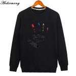 Aidiemeng Hoodies Men Casual Sportswear Spring Fashion Male Black Hoodie Sweatshirt O Neck Cotton Hoodie Jacket Mens Hoody