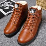 Ankle boots men black large siae 5.5-11.5 winter boots men shoes warm fur snow boots men wear-resistant adult male tennis