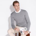 Autumn New Men Casual Sweater High Quality  100% Cotton Long Sleeve O-neck Solid Men Knitting Sweaters